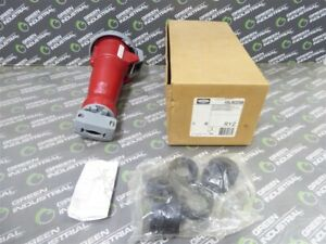 New Hubbell Hbl563c6w Watertight Pin And Sleeve Connector 4 Pole 5 Wire 240 415v