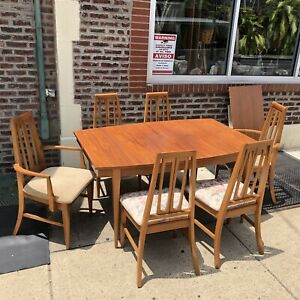 Mid Century Modern 60s Walnut Dining Table Chairs Danish Young Furniture Co