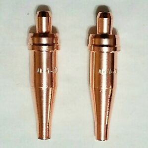New Victor Style 0 1 101 Acetylene Cutting Torch Tip Lot Of 2 St2600fc Ca2460
