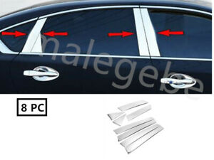 Fit 2013 2018 Nissan Altima 8pcs Stainless Steel Chrome Pillar Post Trim Cover