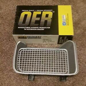 1969 Pontiac Firebird Right Front Bumper Grill Re Reproduction Oer Silver