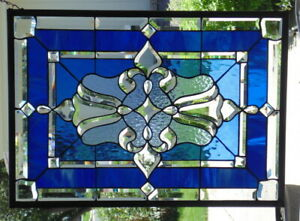 Stained Glass Window Hanging 29 1 2 X 21