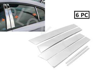 Fit 2011 2015 Dodge Charger 6pcs Stainless Steel Chrome Pillar Post Trim Cover