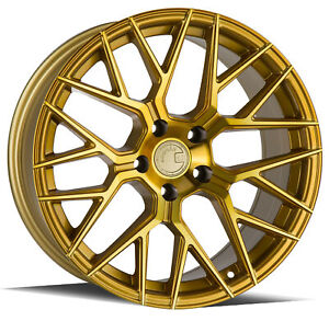 Aodhan Ls009 20x9 5x120 Et30 Gold Machined Face Wheel Set Of 4 Rims