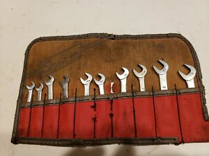Snap On Blue Point Offset Ignition Wrench Set Vintage Nice Sae