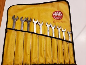 Mac Tools Long Combination Wrench Set 10 Pc 10mm 19mm sml10k