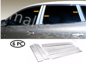 Fit 2008 2013 Nissan Rogue 6pcs Stainless Steel Chrome Pillar Post Trim Cover