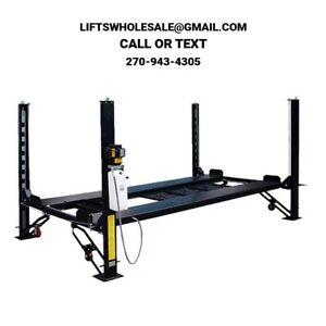 New 9 000 Lbs 4 post Xlt Parking storage Lift Extra Long