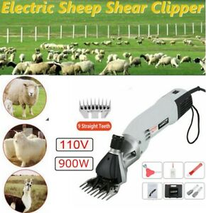 110v 900w Sheep Goat Shears Clippers Electric Animal Shave Grooming Farm Supply