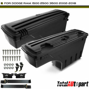 2x Truck Bed Storage Box Toolbox Rear Left Right For Dodge Ram 1500 2500 3500