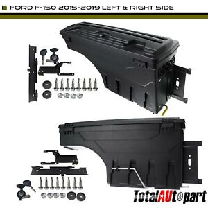2pcs Truck Bed Storage Box Toolbox Rear Left Right For Ford F 150 15 19 Pickup