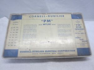 Capacitors Kit In Orginal Box Capacitor Cornell dubilier Lot Of 42