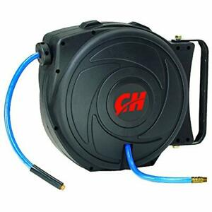 Air Hose Reel With Retractable 50 Foot Hose 3 8 Inch Id Mountable Swivel Gift