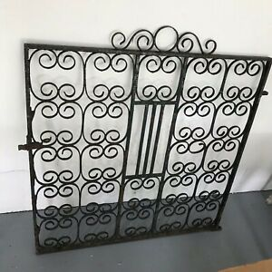 Large Unusual Antique Wrought Iron Gate