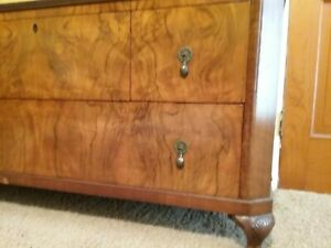 Vintage Burl Dresser Old Piece From England Purchsed Theturnageplace 1980