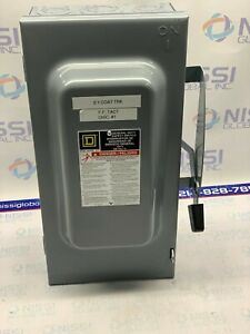 Square D 100 Amp Safety Switch 240 Vac Du323 100 Amp Non Fused Safety Switch