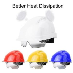 Diamond Hard Hat Safety Helmet With Goggles Sweat Band Snap on Yd Anti fog