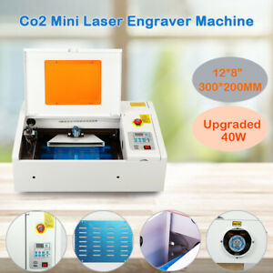 40w Laser Engraver Cutting Machine W Water break Protection Upgraded 300 200mm