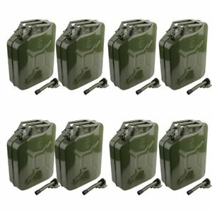 Jerry Can 5 Gallon 20l Gas Gasoline Fuel Army Nato Metal Steel Tank Holder X8 Wn