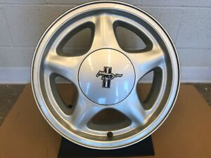 91 92 93 Ford Mustang 1991 1992 1993 Oem Pony 5 Star Alloy Wheel Rim 16x7