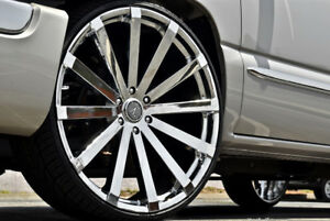 24 Inch Velocity V12 Chrome Wheels Rims Tires Fit 6 X 5 5 Escalade Tahoe