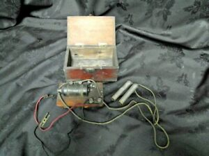 Antique Electric Shock Machine Wooden Box