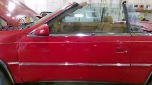 89 91 Maserati Tc Driver Left Front Door Exotic Red Fr2 Oem Used