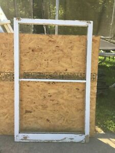 Wood Window Rustic Antique Vintage Farmhouse Wedding Decor Art 55 X34 2 Pane
