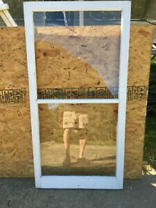 Wood Window Rustic Antique Vintage Farmhouse Wedding Decor Art 54 X28 2 Pane