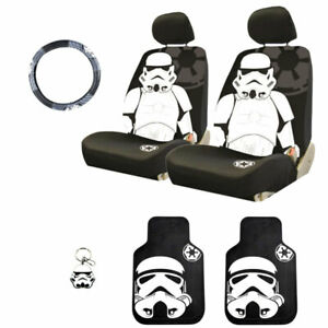 For Bmw Star Wars Stormtrooper 6pc Car Seat Covers Mats And Accesories Set