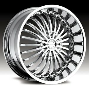 20 Inch Strada Spina Chrome Wheel Rims Tires 5 X 120