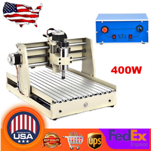 Cnc 3040 Router 4 Axis 3d Engraver Pvc Milling Drilling Machine 400w Cutter 110v