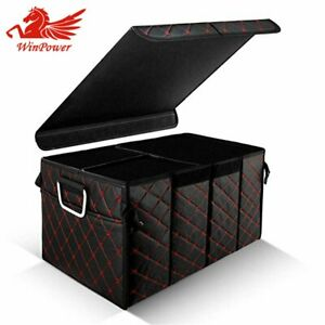 Car Suv Leather Trunk Organizer Storage Box Foldable 3 Room For Jeep Ford F 150