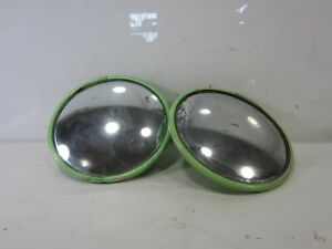 2 Vintage Convex Auto Rat Rod Or Bus Side Mirrors 8 5