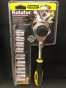 Stanley Tools Rotator 3 8 Drive Ratchet With Socket Set Brand New Last One