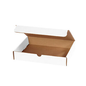 50 11 1 8 X 8 3 4 X 3 White Book Mailers Cardboard Boxes For Printers