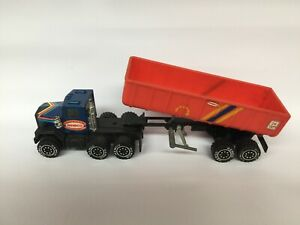 Vintage 1986 Remco Construction Company Semi Truck With Dumping Trailer
