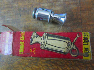 Vintage 1950s Santay Chrome Knob Cigar Cigarette Lighter Nos With Original Box