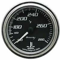7242 Equus 7242 Water Temperature Gauge Black