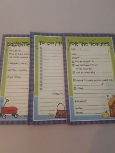 Lot Of 3 Household Theme Note Pads