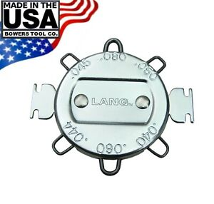 Lang 6 Wire Gap Spark Plug Gauge For High Energy Ignition Systems Made In Usa