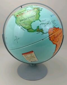 Vintage Nystrom First Globe Large 16 Diameter Relief Map 31 47 Double Axis