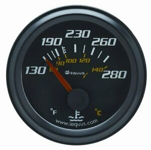 6232 Equus 6232 Water Temperature Gauge Black