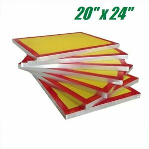 6 Pack 20 X 24 Aluminum Frame Screen Printing Screens 200 Yellow Mesh Count