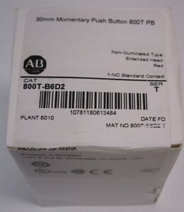 Allen Bradley 800t b6d2 Red 30mm Momentary Push Button 800t Pb Non illuminated