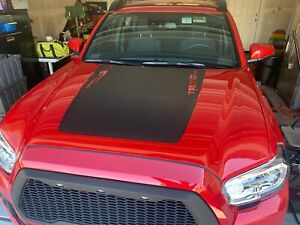 2016 19 Toyota Tacoma Hood Decal W Side trd Matte Black
