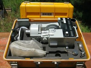 Zeiss Elta 46r Total Station Theodolite Surveying Equipment Used W case access