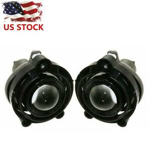 Pair Replacement Projector Fog Light Lamp For Buick Cadillac Gmc Impala Camaro