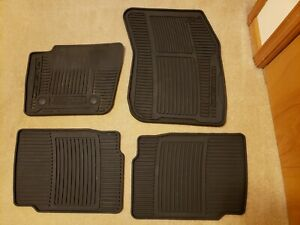 2013 2016 Ford Fusion Oem Black All Weather Rubber Floor Mats 4 Pieces