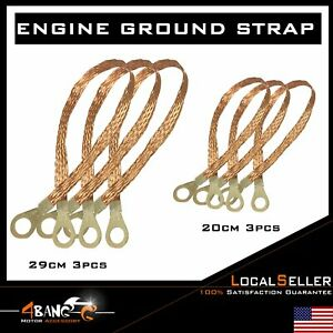 Universal Heavy Duty Engine Ground Strap 6 Pack Truck Car Suv Set U S A Made